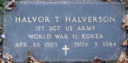 HALVERSON, HALVOR T. (WWII - KOREA) - Minnehaha County, South Dakota   HALVOR T. (WWII - KOREA) HALVERSON - South Dakota Gravestone Photos