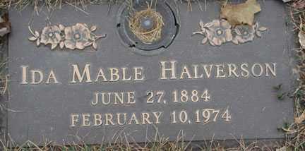 HALVERSON, IDA MABLE - Minnehaha County, South Dakota | IDA MABLE HALVERSON - South Dakota Gravestone Photos