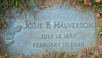 HALVERSON, JOSIE B. - Minnehaha County, South Dakota | JOSIE B. HALVERSON - South Dakota Gravestone Photos