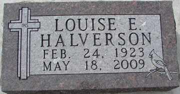 HALVERSON, LOUISE E. - Minnehaha County, South Dakota | LOUISE E. HALVERSON - South Dakota Gravestone Photos
