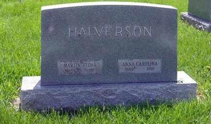 HALVERSON, ANNA CAROLINA - Minnehaha County, South Dakota   ANNA CAROLINA HALVERSON - South Dakota Gravestone Photos