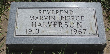 HALVERSON, MARVIN PIERCE - Minnehaha County, South Dakota | MARVIN PIERCE HALVERSON - South Dakota Gravestone Photos