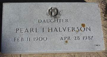 HALVERSON, PEARL I. - Minnehaha County, South Dakota | PEARL I. HALVERSON - South Dakota Gravestone Photos