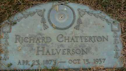 HALVERSON, RICHARD CHATTERON - Minnehaha County, South Dakota | RICHARD CHATTERON HALVERSON - South Dakota Gravestone Photos