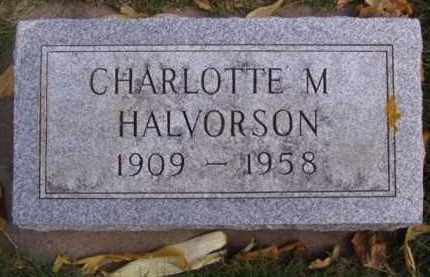 HALVORSON, CHARLOTTE M. - Minnehaha County, South Dakota   CHARLOTTE M. HALVORSON - South Dakota Gravestone Photos