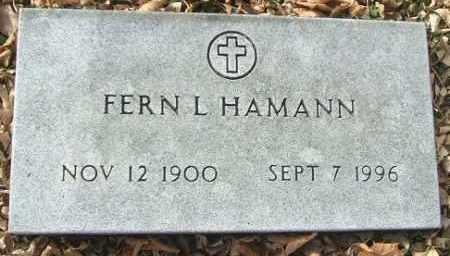 HAMANN, FERN L. - Minnehaha County, South Dakota | FERN L. HAMANN - South Dakota Gravestone Photos