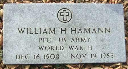 HAMANN, WILLIAM H. (WWII) - Minnehaha County, South Dakota | WILLIAM H. (WWII) HAMANN - South Dakota Gravestone Photos