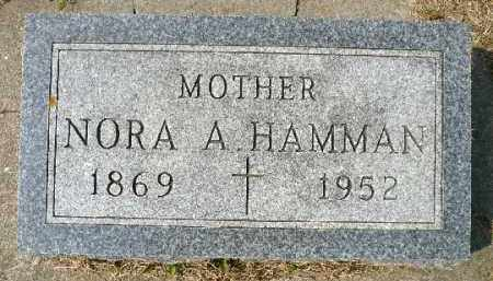 HAMMAN, NORA A. - Minnehaha County, South Dakota   NORA A. HAMMAN - South Dakota Gravestone Photos