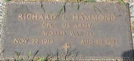 HAMMOND, RICHARD L. (WWII) - Minnehaha County, South Dakota | RICHARD L. (WWII) HAMMOND - South Dakota Gravestone Photos