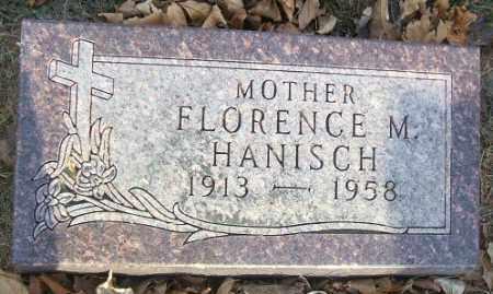 HANISCH, FLORENCE M. - Minnehaha County, South Dakota   FLORENCE M. HANISCH - South Dakota Gravestone Photos