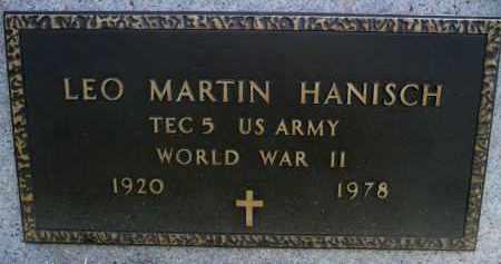 HANISCH, LEO MARTIN (WWII) - Minnehaha County, South Dakota | LEO MARTIN (WWII) HANISCH - South Dakota Gravestone Photos