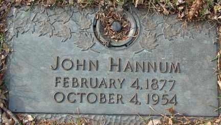 HANNUM, JOHN - Minnehaha County, South Dakota | JOHN HANNUM - South Dakota Gravestone Photos