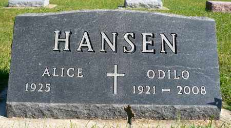 HANSEN, ALICE - Minnehaha County, South Dakota | ALICE HANSEN - South Dakota Gravestone Photos
