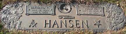 HANSEN, JULIA I. - Minnehaha County, South Dakota   JULIA I. HANSEN - South Dakota Gravestone Photos