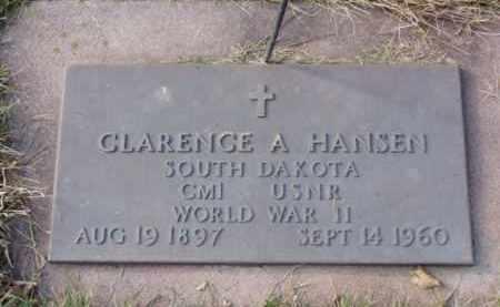 HANSEN, CLARENCE A. - Minnehaha County, South Dakota   CLARENCE A. HANSEN - South Dakota Gravestone Photos