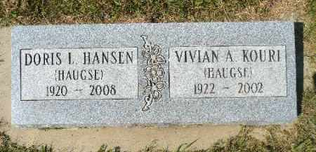 HAUGSE HANSEN, DORIS L. - Minnehaha County, South Dakota | DORIS L. HAUGSE HANSEN - South Dakota Gravestone Photos