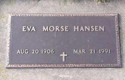 HANSEN, EVA MORSE - Minnehaha County, South Dakota | EVA MORSE HANSEN - South Dakota Gravestone Photos