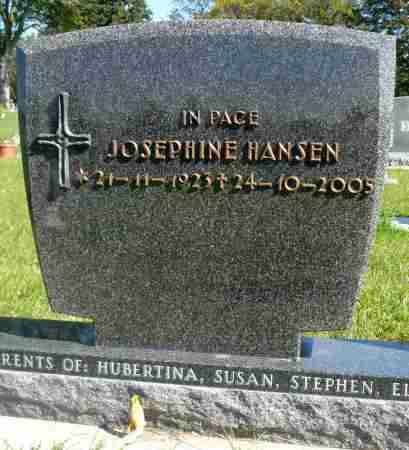 HANSEN, JOSEPHINE - Minnehaha County, South Dakota | JOSEPHINE HANSEN - South Dakota Gravestone Photos