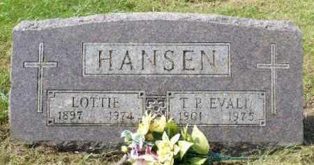 HANSEN, T.P. EVALD - Minnehaha County, South Dakota   T.P. EVALD HANSEN - South Dakota Gravestone Photos