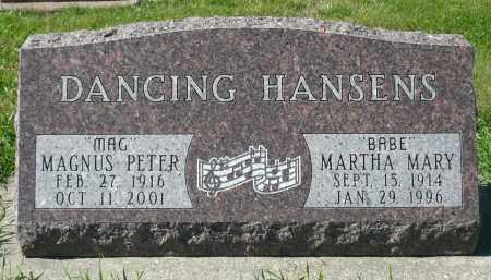 HANSEN, MARTHA MARY - Minnehaha County, South Dakota | MARTHA MARY HANSEN - South Dakota Gravestone Photos