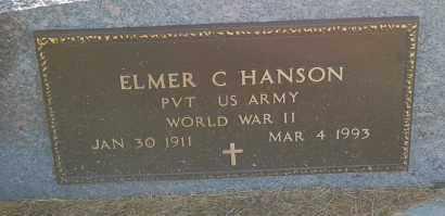 HANSON, ELMER C. (WW II) - Minnehaha County, South Dakota | ELMER C. (WW II) HANSON - South Dakota Gravestone Photos