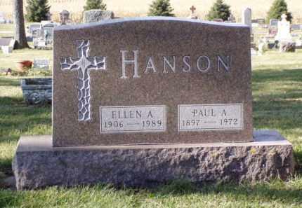 HANSON, ELLEN A. - Minnehaha County, South Dakota | ELLEN A. HANSON - South Dakota Gravestone Photos