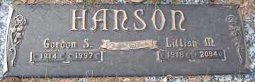 HANSON, LILLIAN M. - Minnehaha County, South Dakota | LILLIAN M. HANSON - South Dakota Gravestone Photos