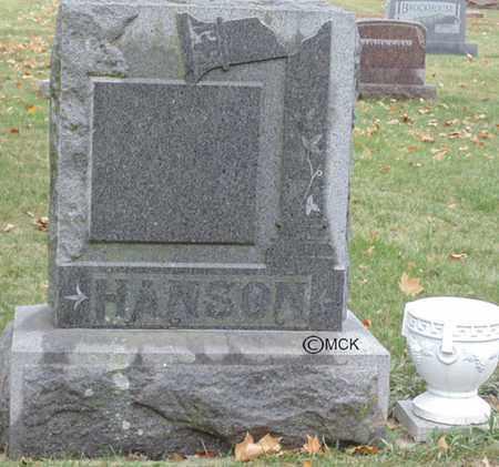 HANSON, HEADSTONE - Minnehaha County, South Dakota | HEADSTONE HANSON - South Dakota Gravestone Photos