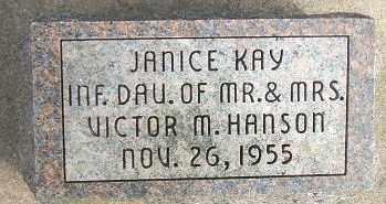 HANSON, JANICE KAY - Minnehaha County, South Dakota | JANICE KAY HANSON - South Dakota Gravestone Photos