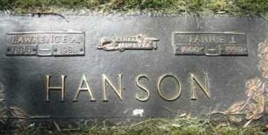 HANSON, FANNIE J. - Minnehaha County, South Dakota | FANNIE J. HANSON - South Dakota Gravestone Photos