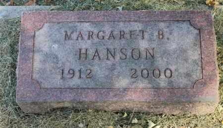 HANSON, MARGARET B. - Minnehaha County, South Dakota | MARGARET B. HANSON - South Dakota Gravestone Photos