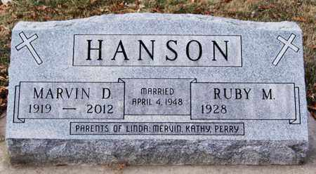 HANSON, MARVIN D - Minnehaha County, South Dakota | MARVIN D HANSON - South Dakota Gravestone Photos