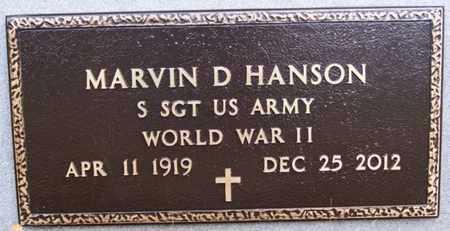 HANSON, MARVIN D (WWII) - Minnehaha County, South Dakota | MARVIN D (WWII) HANSON - South Dakota Gravestone Photos