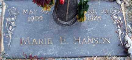 HANSON, MARIE E. - Minnehaha County, South Dakota | MARIE E. HANSON - South Dakota Gravestone Photos