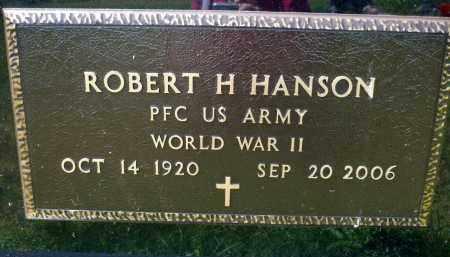 HANSON, ROBERT H. (WWII) - Minnehaha County, South Dakota | ROBERT H. (WWII) HANSON - South Dakota Gravestone Photos