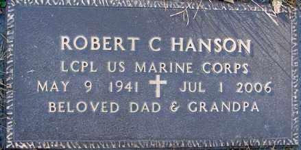 HANSON, ROBERT CLAIR - Minnehaha County, South Dakota   ROBERT CLAIR HANSON - South Dakota Gravestone Photos
