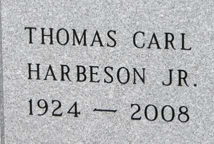 HARBESON, THOMAS CARL JR. - Minnehaha County, South Dakota | THOMAS CARL JR. HARBESON - South Dakota Gravestone Photos