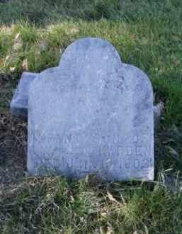 HARDEN, INFANT SON - Minnehaha County, South Dakota | INFANT SON HARDEN - South Dakota Gravestone Photos