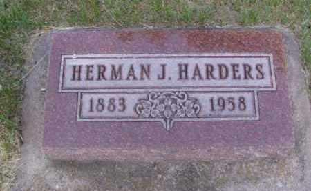 HARDERS, HERMAN J. - Minnehaha County, South Dakota | HERMAN J. HARDERS - South Dakota Gravestone Photos