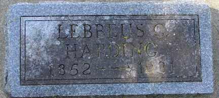 HARDING, LEBBEUS G. - Minnehaha County, South Dakota   LEBBEUS G. HARDING - South Dakota Gravestone Photos