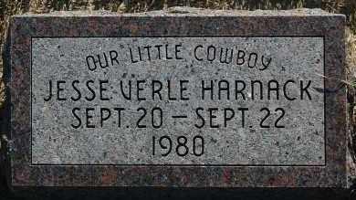 HARNACK, JESSE VERLE - Minnehaha County, South Dakota   JESSE VERLE HARNACK - South Dakota Gravestone Photos