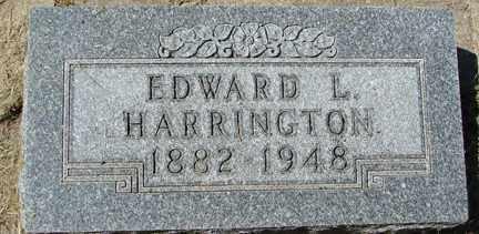 HARRINGTON, EDWARD L. - Minnehaha County, South Dakota | EDWARD L. HARRINGTON - South Dakota Gravestone Photos