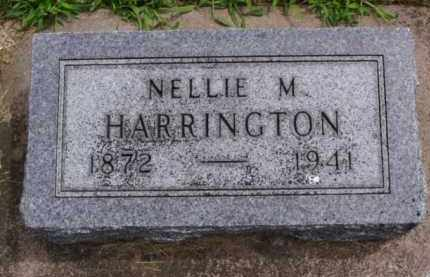 HARRINGTON, NELLIE M. - Minnehaha County, South Dakota | NELLIE M. HARRINGTON - South Dakota Gravestone Photos