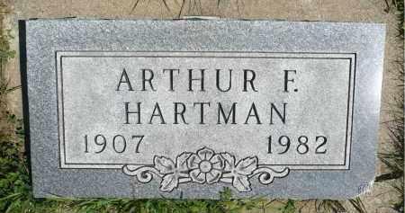 HARTMAN, ARTHUR F. - Minnehaha County, South Dakota | ARTHUR F. HARTMAN - South Dakota Gravestone Photos