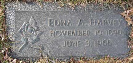 HARVEY, EDNA A. - Minnehaha County, South Dakota   EDNA A. HARVEY - South Dakota Gravestone Photos