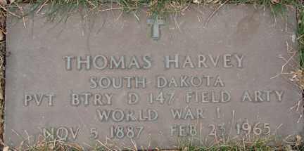 HARVEY, THOMAS (WWI) - Minnehaha County, South Dakota   THOMAS (WWI) HARVEY - South Dakota Gravestone Photos