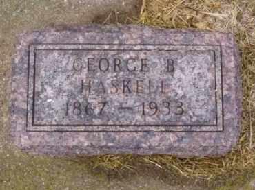 HASKELL, GEORGE B. - Minnehaha County, South Dakota   GEORGE B. HASKELL - South Dakota Gravestone Photos