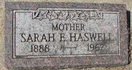 HASWELL, SARAH E. - Minnehaha County, South Dakota | SARAH E. HASWELL - South Dakota Gravestone Photos