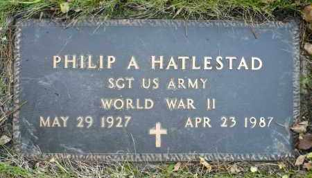 HATLESTAD, PHILIP A. - Minnehaha County, South Dakota | PHILIP A. HATLESTAD - South Dakota Gravestone Photos