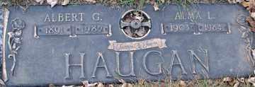 HAUGAN, ALBERT G. - Minnehaha County, South Dakota   ALBERT G. HAUGAN - South Dakota Gravestone Photos